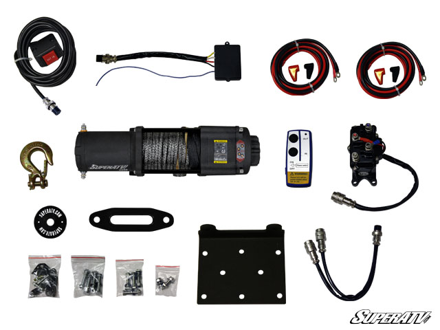 4500 lb. Synthetic Rope ATV Winch -With Wireless Remote