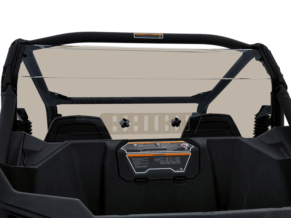 Can Am Maverick Trail Tinted Rear Shield With Sliding Vent