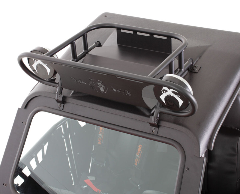 "Polaris RZR Light/Cargo Rack with Vision X 6""offroad lights"