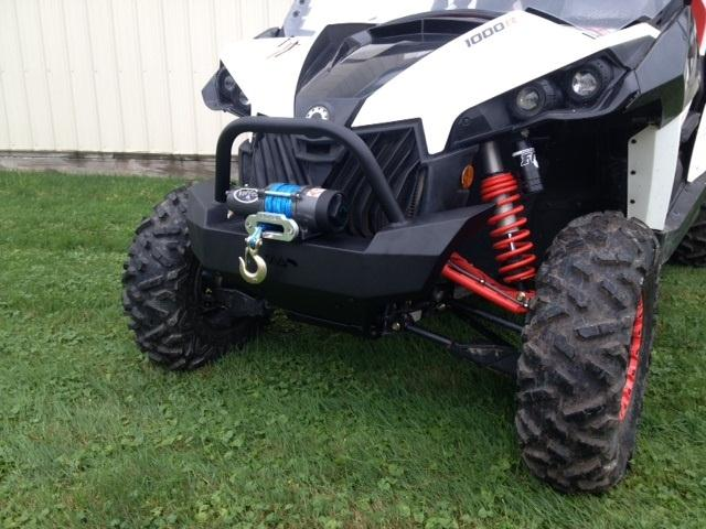 Can Am Maverick Front Brush Guard with Winch Mount