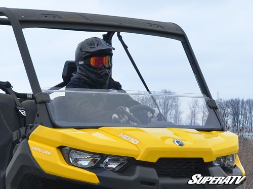Can-Am Defender Scratch Resistant Clear Half Windshield