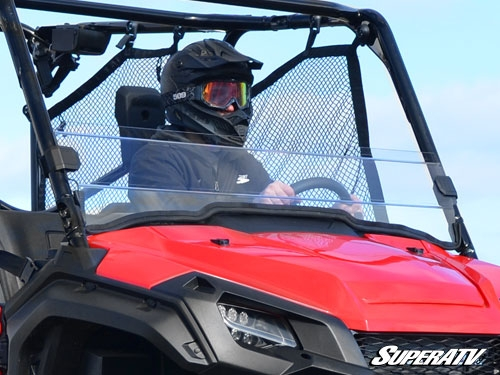 Honda Pioneer 1000 Scratch Resistant Clear Half Windshield