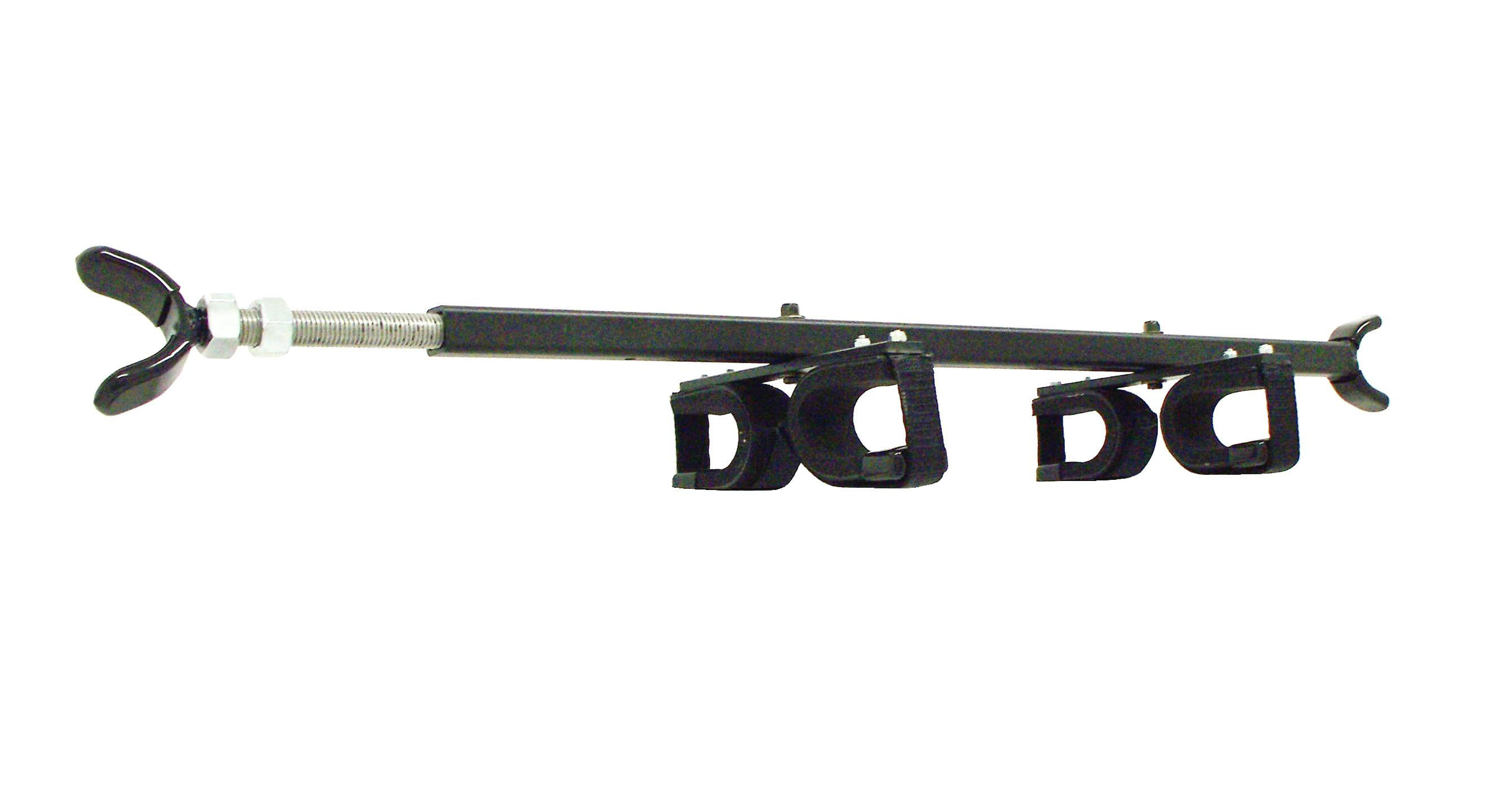 "QuickDraw QD853-OGR Gun Rack fits FRONT to BACK measurements of 35"" - 42"""