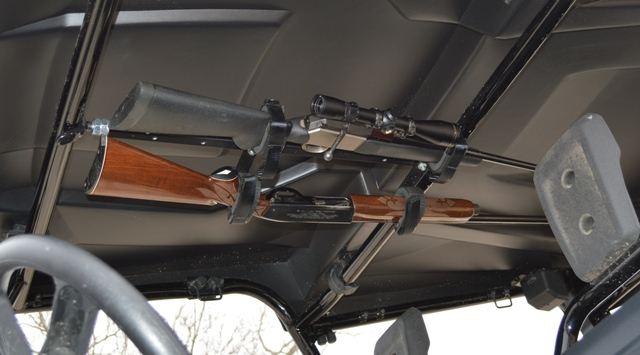 "QuickDraw QD859-OGR Gun Rack fits FRONT to BACK in CREW CAB UTV's measuring 27"" - 33"""