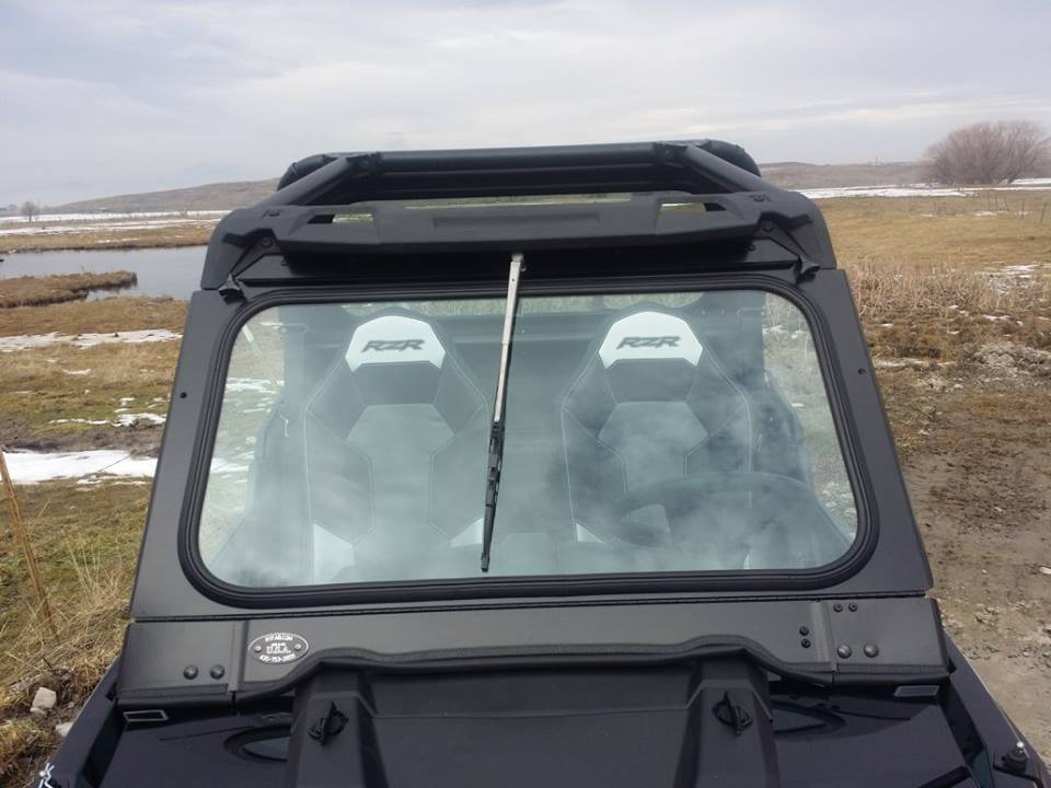 Polaris RZR 900 & 1000 Folding Vented Glass Windshield By Ryfab