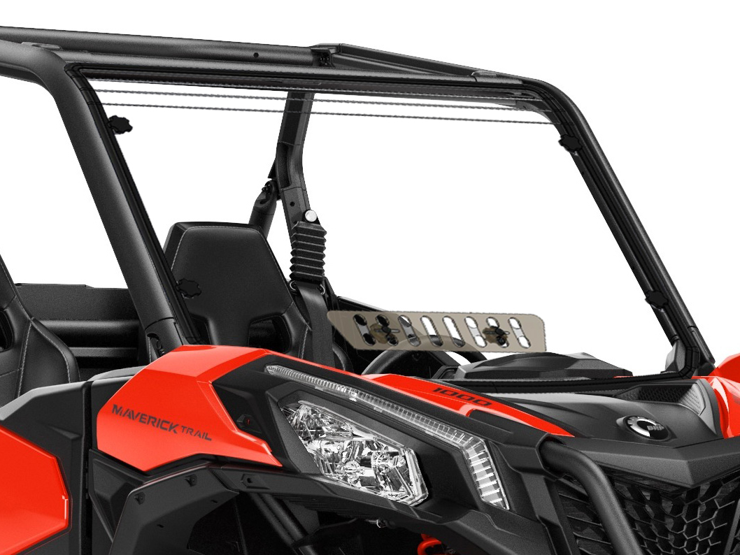Can Am Maverick Trail Scratch Resistant Full Windshield With Sliding Vent
