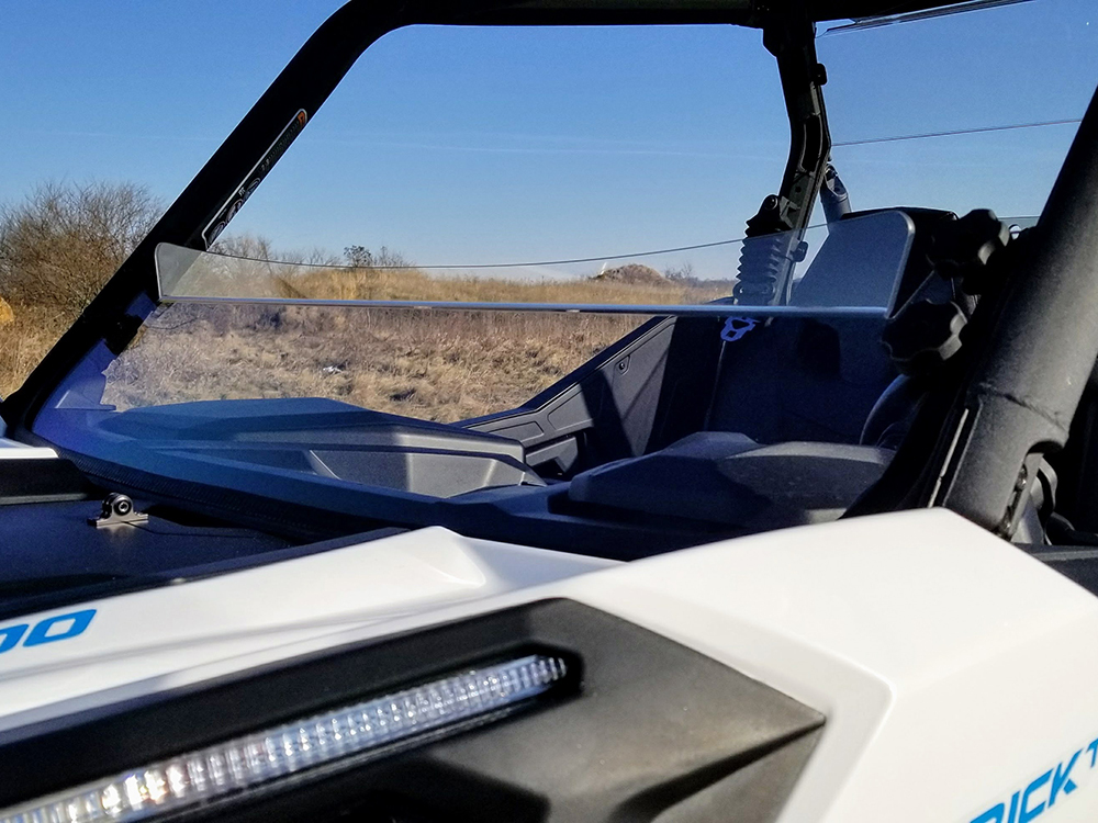 Can AM Maverick Trail Scratch Resistant Half Windshield