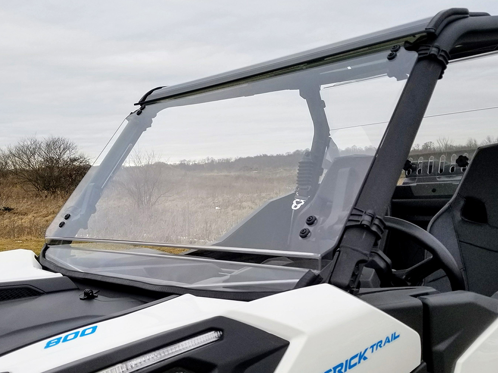 Can Am Maverick Trail Scratch Resistant Full Tilting Windshield