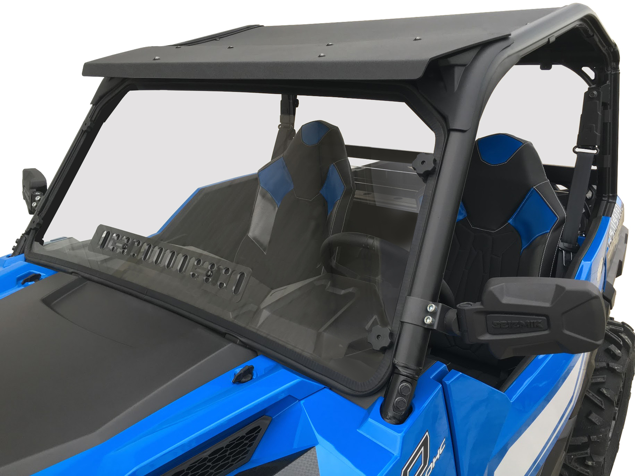 Polaris General Full Size Scratch Resistant Windshield With Sliding Vent