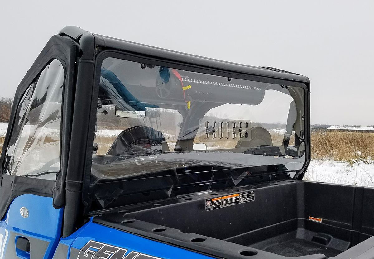 Polaris General Rear Windshield With Sliding Vent