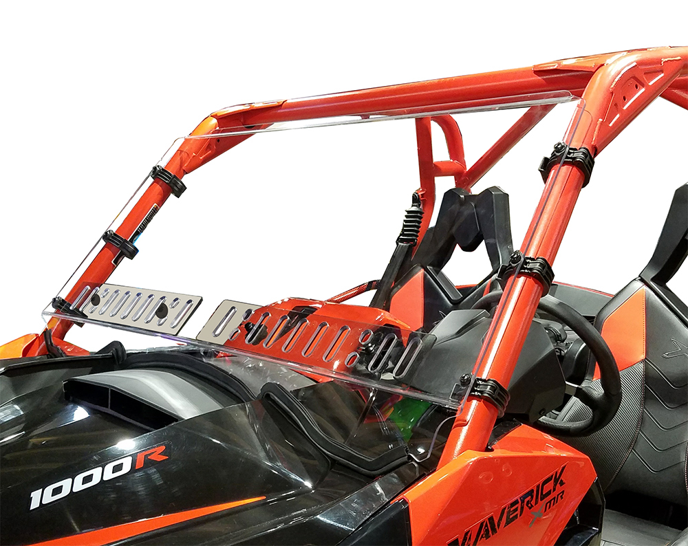 Can Am Maverick Full Hard Coated Windshield w/Dual Sliding Vents