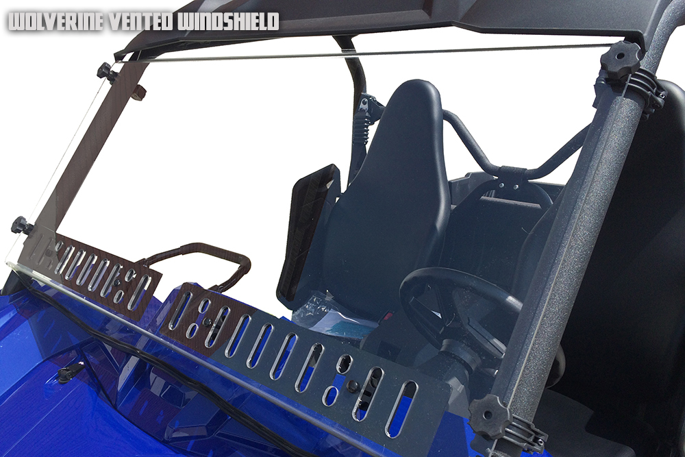 Yamaha Wolverine Dual Vent Windshield With Hard Coat