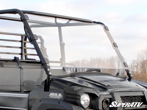 Kawasaki Mule Pro FXT Scratch Resistant Full Windshield