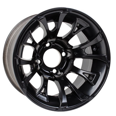 4/136 Douglas Nitro Wheel 12x7 4.0 + 3.0 Black
