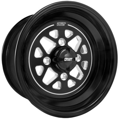 4/136 Douglas Stealth Wheel 12x7 4.0 + 3.0 Black