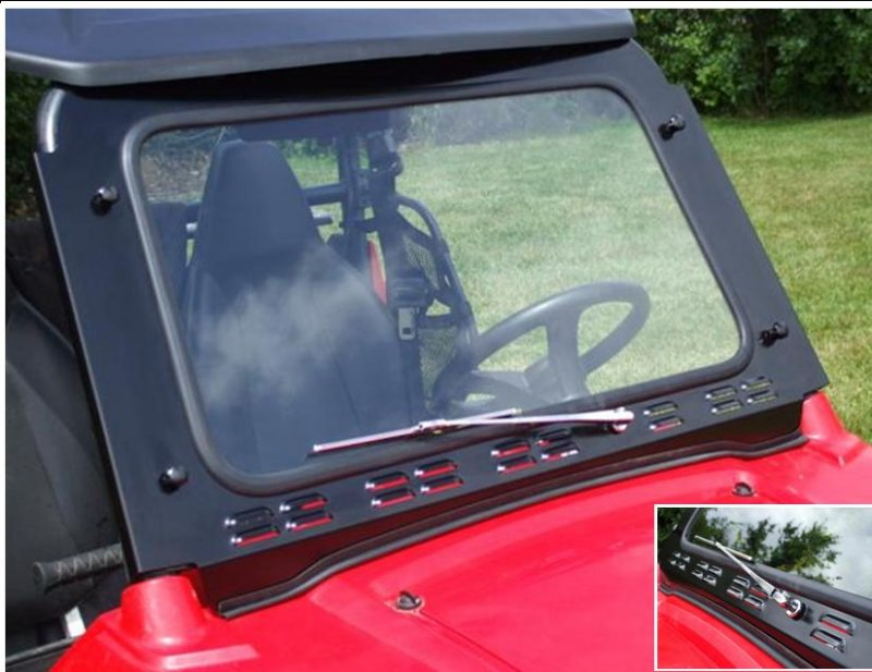 Polaris RZR Laminated Safety Glass Windshield with Wiper