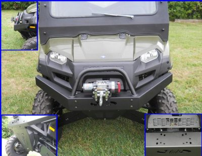 Ranger Extreme Front Bumper / Brush Guard with Winch Mount
