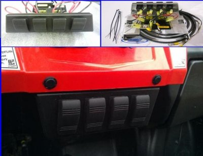 RZR Fuse Block with Four Illuminated Rocker Switches