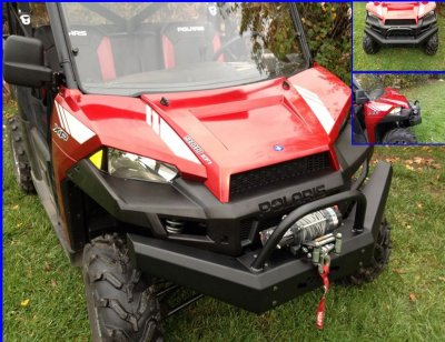 Ranger XP 1000 Front Bumper / Brush Guard with Winch Mount