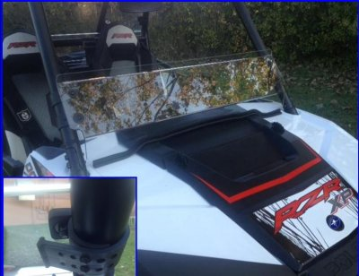 2015+ Polaris RZR 900 Half Windshield/ Wind Deflector