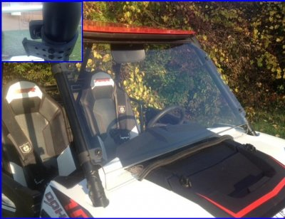 Polaris RZR S 1000 Full Windshield - Hard Coat