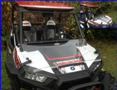 Polaris RZR S 1000 Windshield - Flip Down Hard Coat