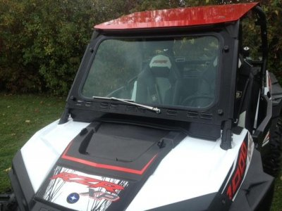 Polaris RZR S 1000 Laminated Safety Glass Windshield with Wiper