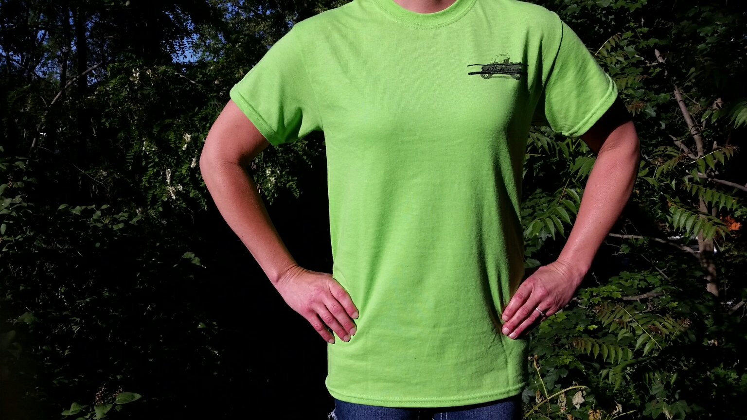 Small Lime Green SideXSide Visions T-Shirt