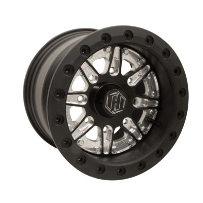 HiPer Sidewinder Single Beadlock Wheel 12x7 4.0 + 3.0 Black