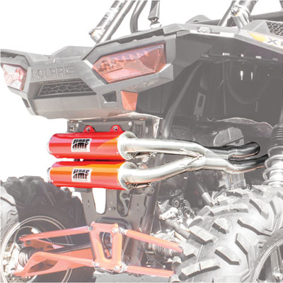 2014 RZR XP 1000 Dual Exhaust System Red