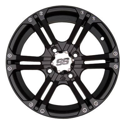 ITP SS212 Alloy Series Wheel 12x7 4/156 4.0 + 3.0 Matte Black
