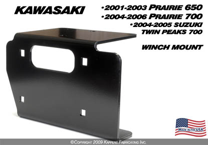 kawasaki winch mounts : side x side visions, we put the fun in