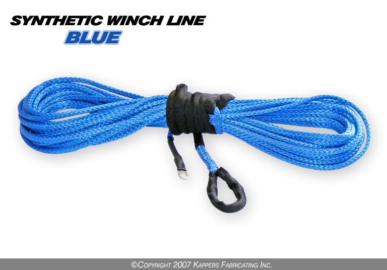 "3/16"" Synthetic 50' ATV Winch Cable (Blue)"