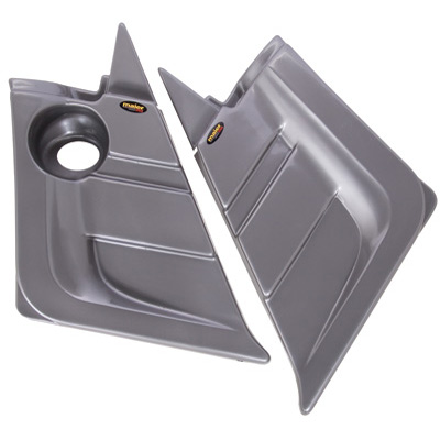 2004-2007 Rhino 660 Custom Side Panels Silver
