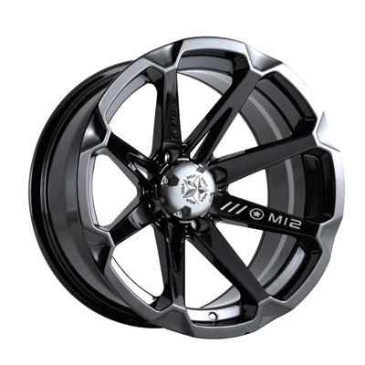 Motosport Alloys M12 Diesel Wheel 14x7 4/156 4.0 + 3.0 Black