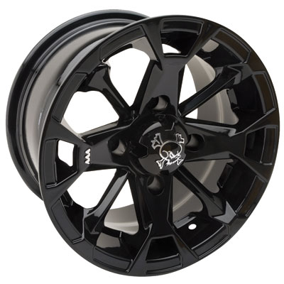 Motosport Alloys M17 Elixir Wheel 12x7 4.0 + 3.0 Machined/Black