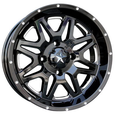 Motosport Alloys M26 Vibe Wheel 14x7 3.5 + 3.5 Machined/Black