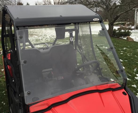 Honda Pioneer 500 Hard Coat Windshield with Fast Straps