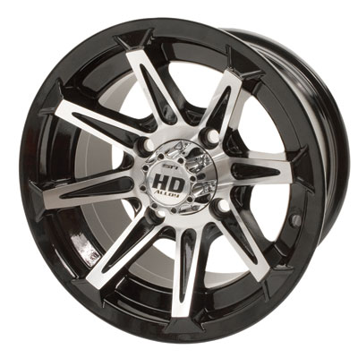 4/137 STI HD2 Alloy Wheel 12x7 5.0 + 2.0 Gloss Black/Machined