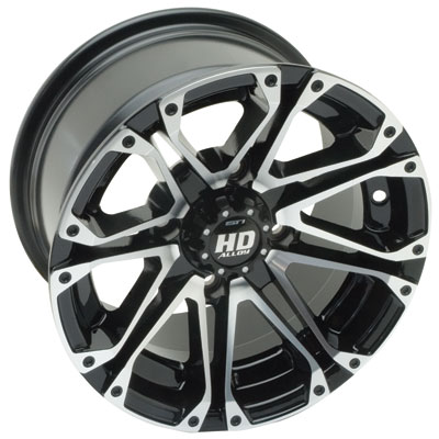 4/137 STI HD3 Alloy Wheel 14x7 5.0 + 2.0 Black Machined
