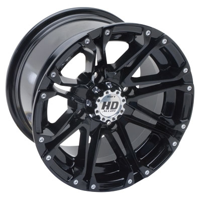 STI HD3 Alloy Wheel 14x7 4/156 4.0 + 3.0 Gloss Black