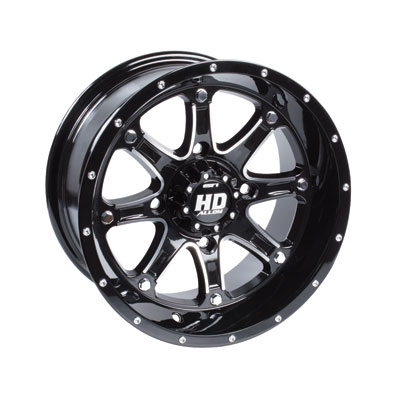 STI HD4 Alloy Wheel 12x7 4/156 4.0 + 3.0 Gloss Black