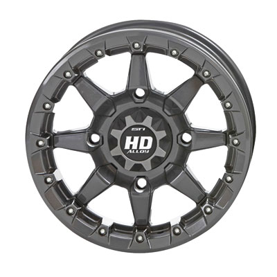 STI HD5 Beadlock Wheel 14x7 4/156 5.0 + 2.0 GunMetal Grey