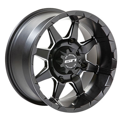STI HD6 Alloy Wheel 14x7 4/156 4.0 + 3.0 Matte Black