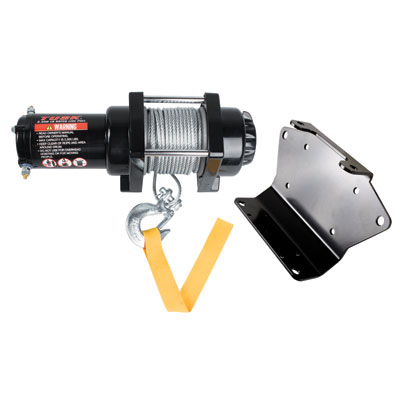Polaris RZR, RZR-S 2500lb Winch With Mounting Plate