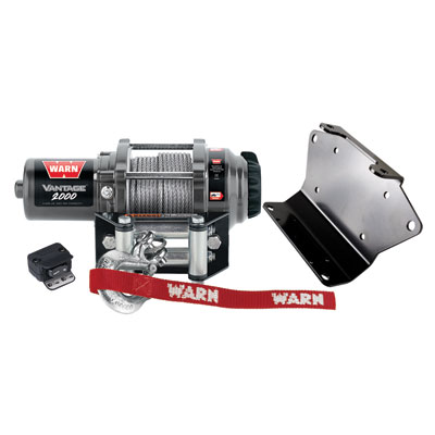 Polaris RZR, RZR-S 2000lb Warn Winch With Mounting Plate