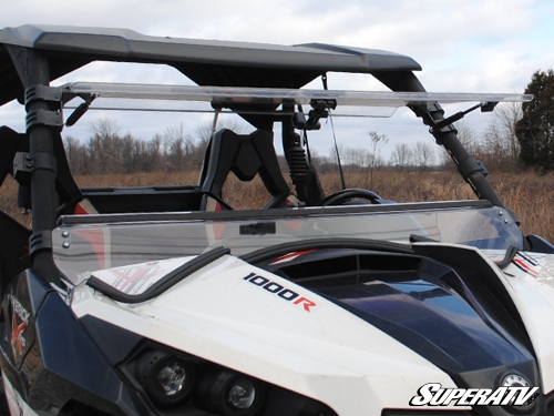Can-Am Maverick Scratch Resistant Flip Windshield